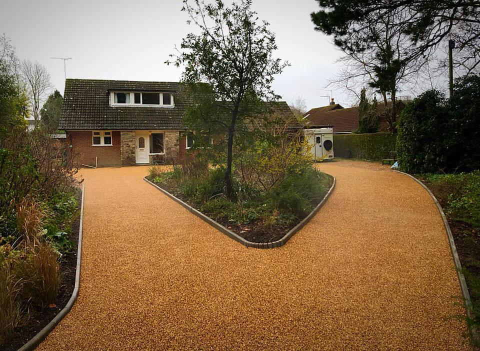 CW Stanley driveway after
